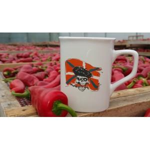 Mug porcelaine décor fait main