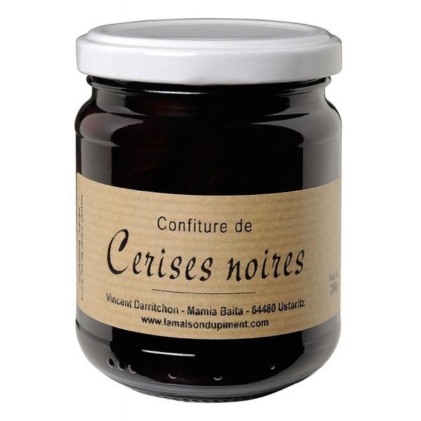Confiture de cerises noires au piment d'Espelette 250g