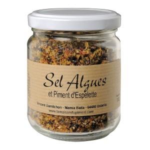 Sels, algues, aromates et piment d' Espelette 170gr