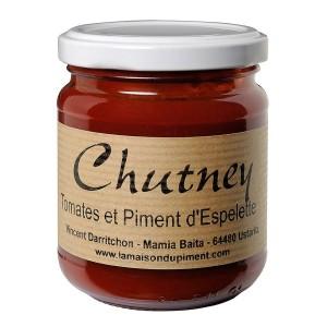 Chutney de Tomates, Poivrons au Piment d' Espelette 220g
