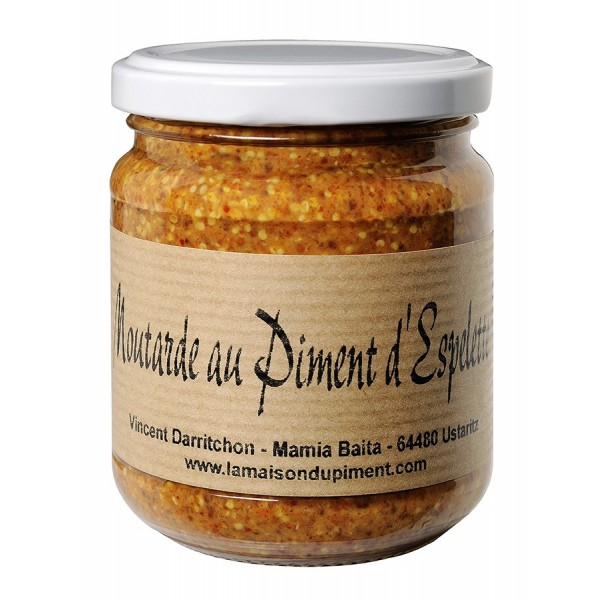 Moutarde au piment d'Espelette 200gr