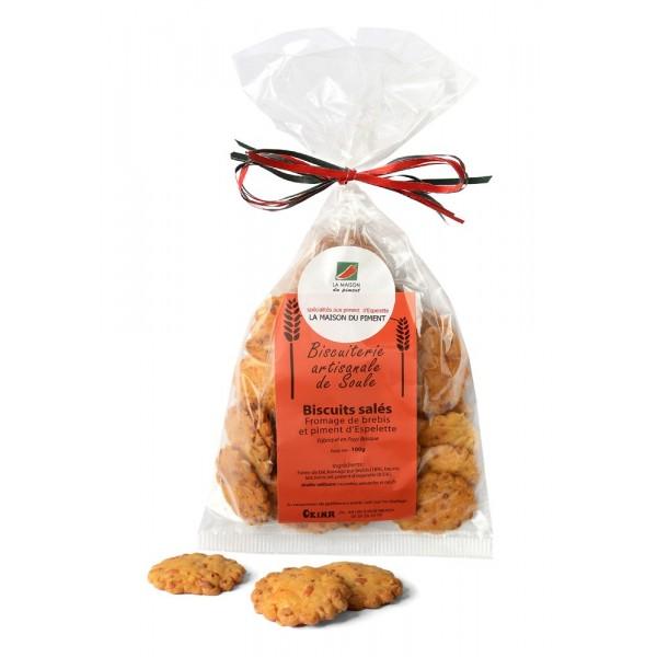 Biscuits salés au fromage de brebis et piment d'Espelette 100g