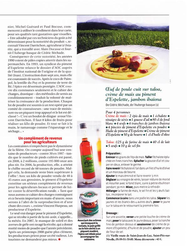 L'Auberge Basque et le Piment d'Espelette - Chef étoilé