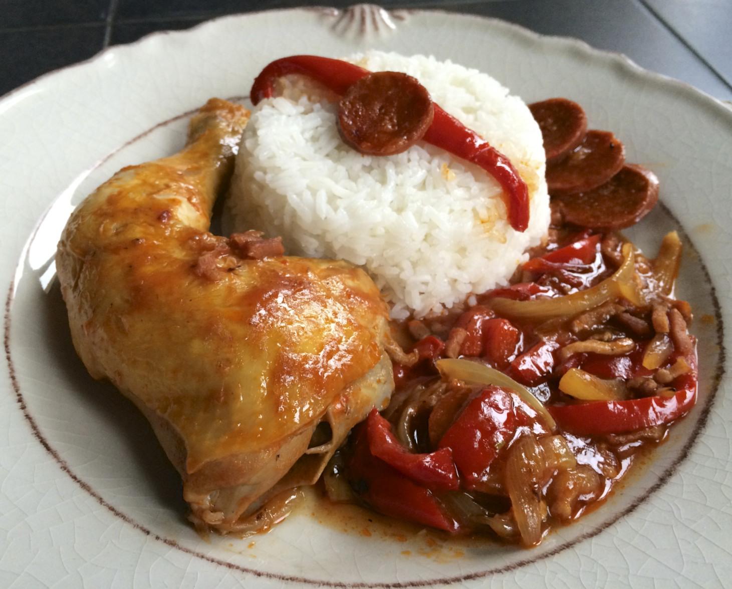 Recette traditonnelle du poulet basquaise for Recette poulet