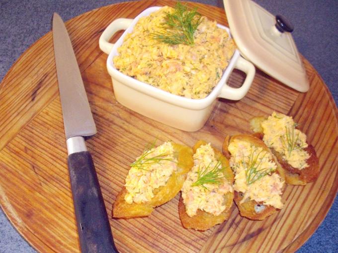 Rillette de Saumon a la confiture de piment d espelette